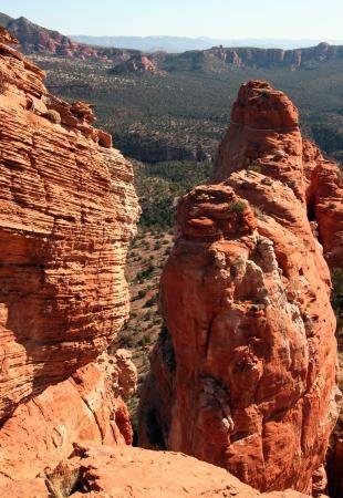 overlook: Red Rock Pillar Overlook Stock Photo