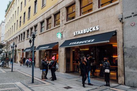 Starbucks coffeehouse location in Turin, Piedmont, Italy