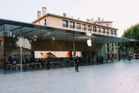 Aix-en-Provence, France - September 19, 2019: Apple Store building facade. Editorial