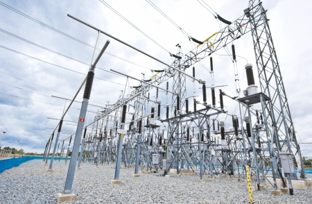 voltage gray: power plant