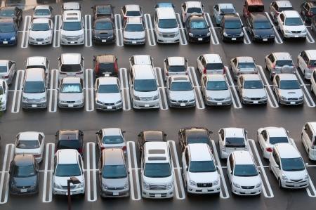TOKYO, GIAPPONE, agosto - 20 Parcheggio Affollato a Tokyo il 20 Ago 2012 Auto divennero più grande problema per l'ecologia urbana Giappone s causa di emissioni e di inquinamento ambientale Archivio Fotografico - 20345436