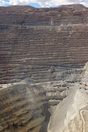 Open copper mine photo