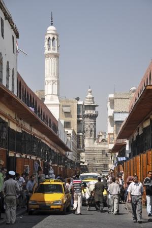 Street of Damascus before war Редакционное