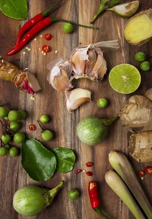 Spicy thai food ingredients Standard-Bild