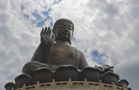lantau: Statua di Buddha gigante, Lantau Island, Hong-Kong
