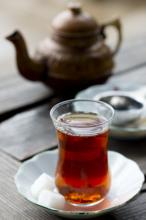 Cup of black turkish tea