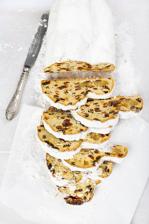 Christmas Stollen silverware photo