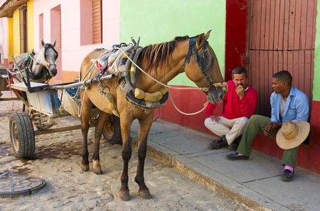 the coachman: Coachman sits near carriage pending an order.
