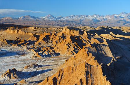 sal: Valle de la luna en el desierto de Atacama Foto de archivo