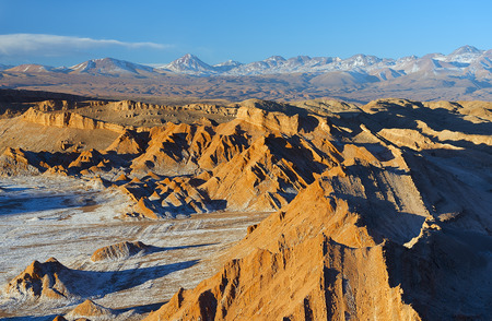 Valle della luna nel deserto di Atacama Archivio Fotografico - 35335958