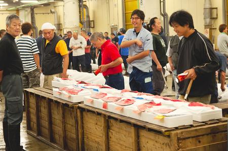 auction: tsukiji fish market