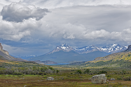 foul: Foul weather in Patagonia mountains Stock Photo