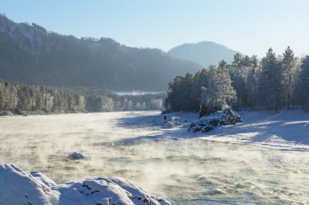 katun: Katun River, Altai Mountains Stock Photo