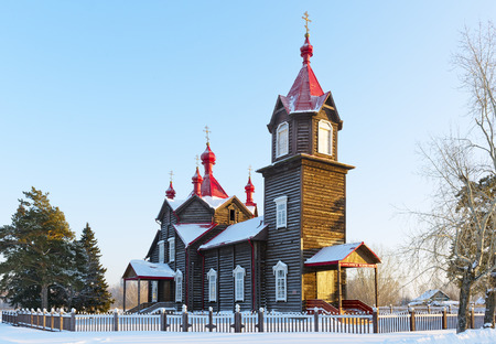 siberia: Wooden Orthodox Church, Siberia
