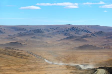 Road jorney across Mongolia