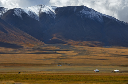 Nomads camp in the Mongolia