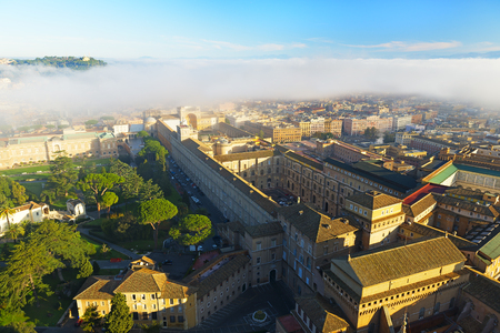 Morning fog above the Vatican Stock Photo