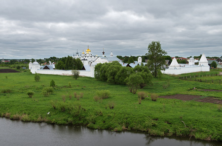 Rainy day in Suzdal city