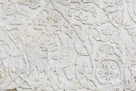 Fine white stone carving