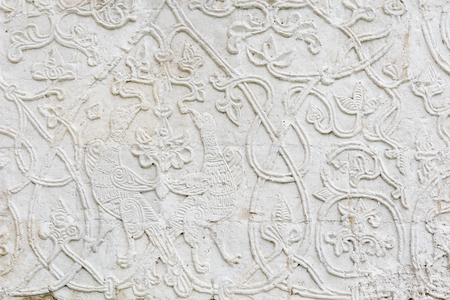 Fine white stone carving