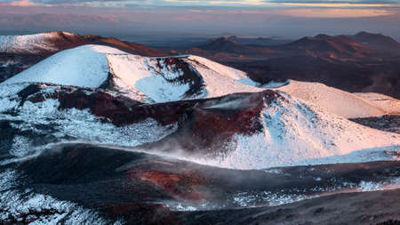 Cinder cone of the Tolbachik stratovolcano in the southern part of Kamchatka Region, Russia. Being a part of the national park, it is one of the most popular volcano located Kamchatka peninsula.