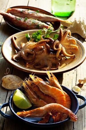 seafood platter: fresh seafood mediterranean style