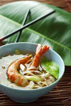 indonesian food: asian style shrimp and noodles