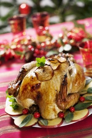 juicy christmas turkey Stock Photo