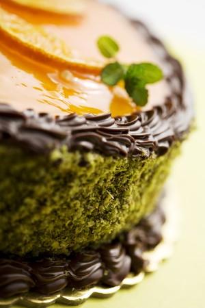 orange cake: cake closeup Stock Photo