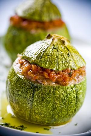 zucchini: calabacines rellenos