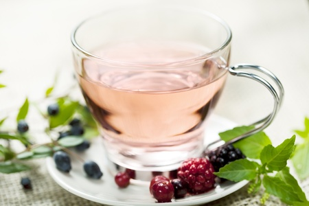fresh forest berry tea photo