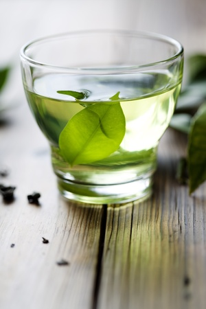 green tea Standard-Bild