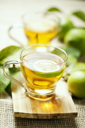 cup of freshly brewed lemon tea