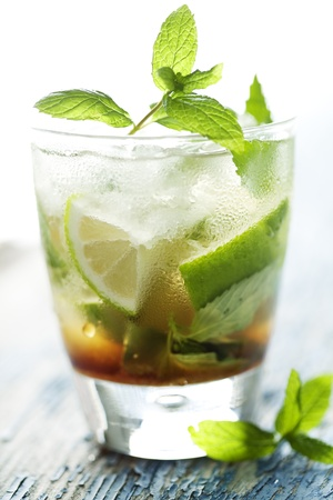 fresh mojito on a rustic table Stock Photo - 8955435