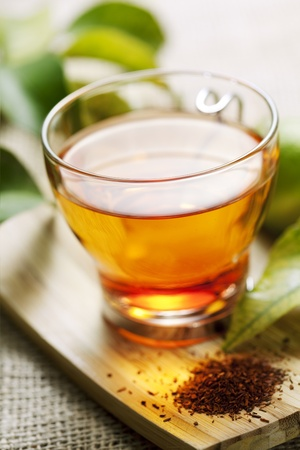 closeup of rooibos tea, shallow dof photo