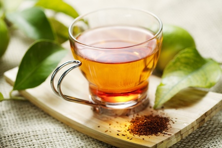 closeup of rooibos tea, shallow dof Stock Photo