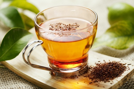rooibos tea: closeup of rooibos tea, shallow dof Stock Photo