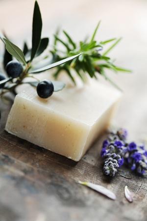 sud: closeup of natural hebal soap
