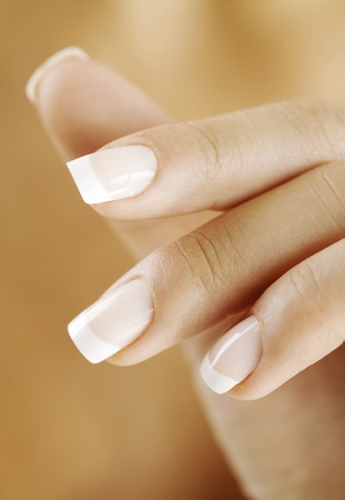nail care: female hand