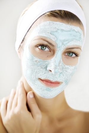 woman with a skin mask photo