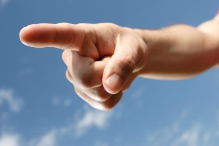 finger pointing Stockfoto