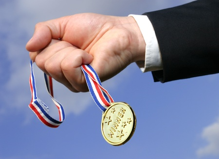 gold medal Standard-Bild