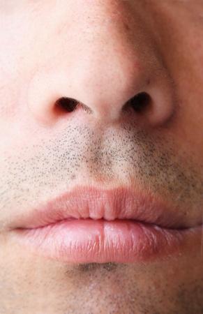 nariz: nariz y la boca Foto de archivo
