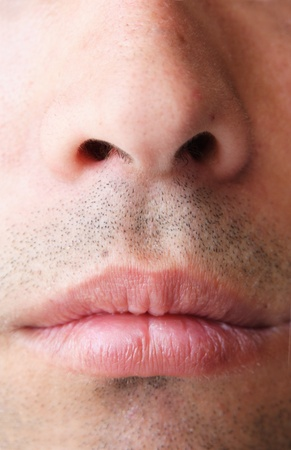 nose and mouth Standard-Bild