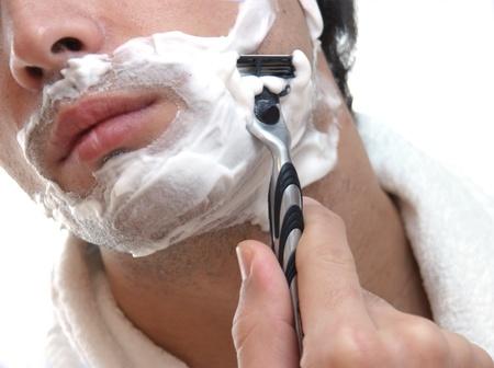 male grooming: shaving