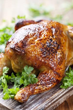 whole roasted chicken Standard-Bild