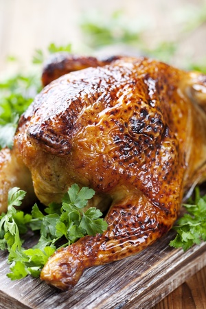 whole roasted chicken Stock Photo - 12615428