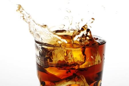 cola: closeup of splashing cola