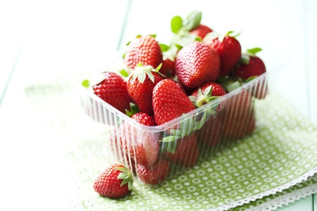 container full of strawberries Stock Photo - 13797135