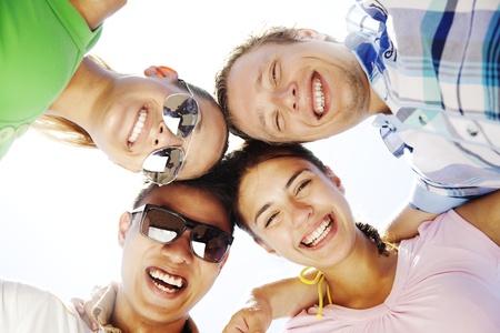 group of young people having fun Standard-Bild